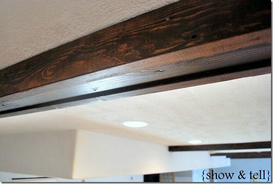 Beautiful Faux Wood Beams For Your Ceiling DIY - http://www.diyscoop.com/beautiful-faux-wood-beams-for-your-ceiling-diy/