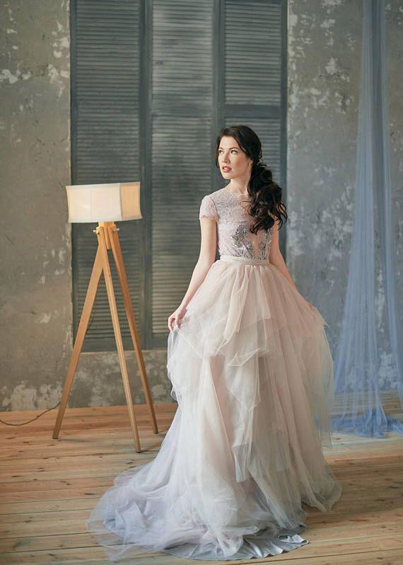 Lilac wedding dress - Wisteria | Violet gray wedding dress ...