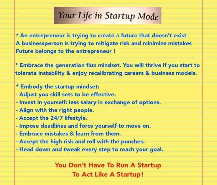Chapter 11: Reboot you / Your Life In Startup Mode