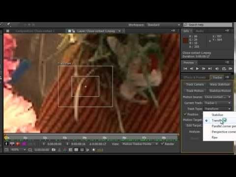 ▶ AE Basics 53: Motion Tracking Part 1 - YouTube