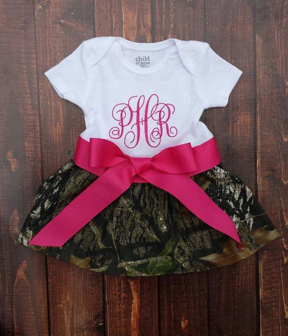 Camo girls dress Camoflague Dress Monogramed by LuLuNMeBowtique, $25.00