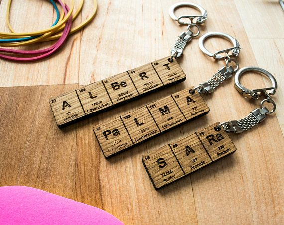 30 best keychains images on pinterest periodic table name keychain gifts for him gifts for her urtaz Gallery