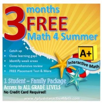 Math Summer Lessons (3 Months Free!) – $49.99 Value! ALL Grade Levels!