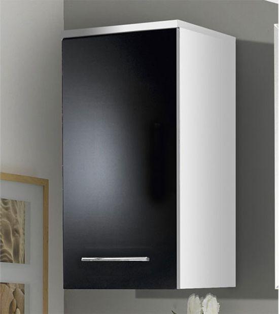 black gloss bathroom wall cabinet