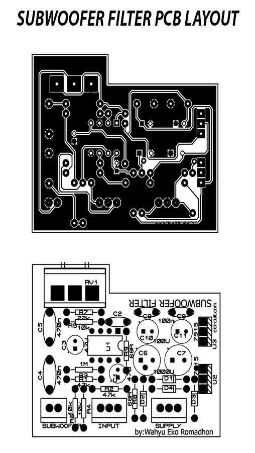 Subwoofer Filter 4558 complete Regulated Power Supply ...