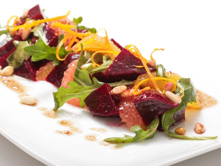 Beet and Citrus Salad With Pine Nut Vinaigrette Recipe | Sweet as candy, rich and earthy, with a great sorta-soft-sorta-crisp texture, fresh beets are one of my favorite vegetables to work with.