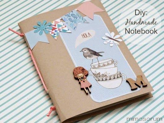 Cómo hacer una Libreta casera - How to make a Handmade Notebook