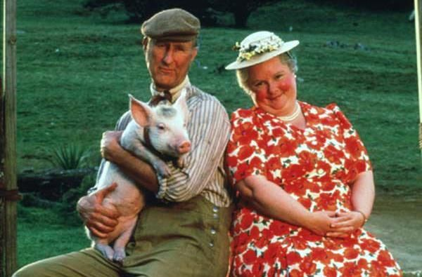 From the movie Babe.  Who's cuter?  The pig or the couple?
