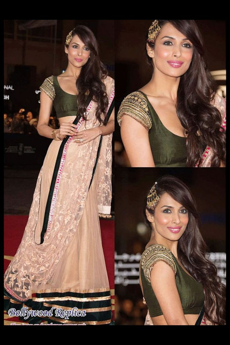 Buy Malaika Arora beige and green Lengha by Vamika at Best Price in India,
