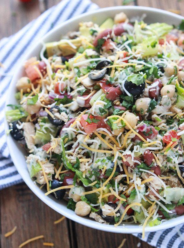 Mexican Chopped Tuna Salad with Creamy Cilantro Dressing