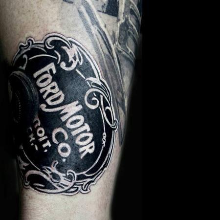 Tattoos - 1903 Ford Motor company emblem - 106636