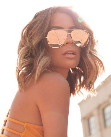 QUAYX High Key Sunglasses in Rose Gold. I just got these and they are already sold out and not getting another order in until Sept but they are so dope. My favorite sunglasses ever. I always get tons of compliments on them.