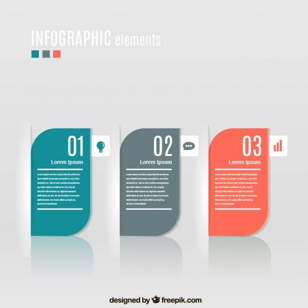 free banners infographic rounded card text capsule