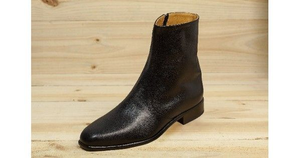 Dermie Boot - The Dermie is a tall cut boot with an inside zip made from mock ostrich leather available in black, brown and light brown colours and a range of sizes from 5 – 12.