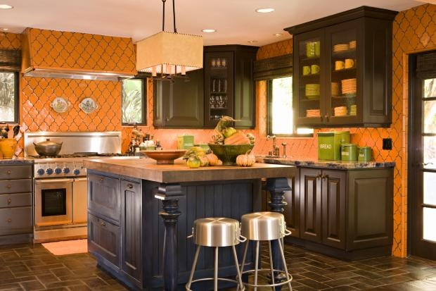 brown kitchens yellow kitchens colorful kitchens kitchen living rooms