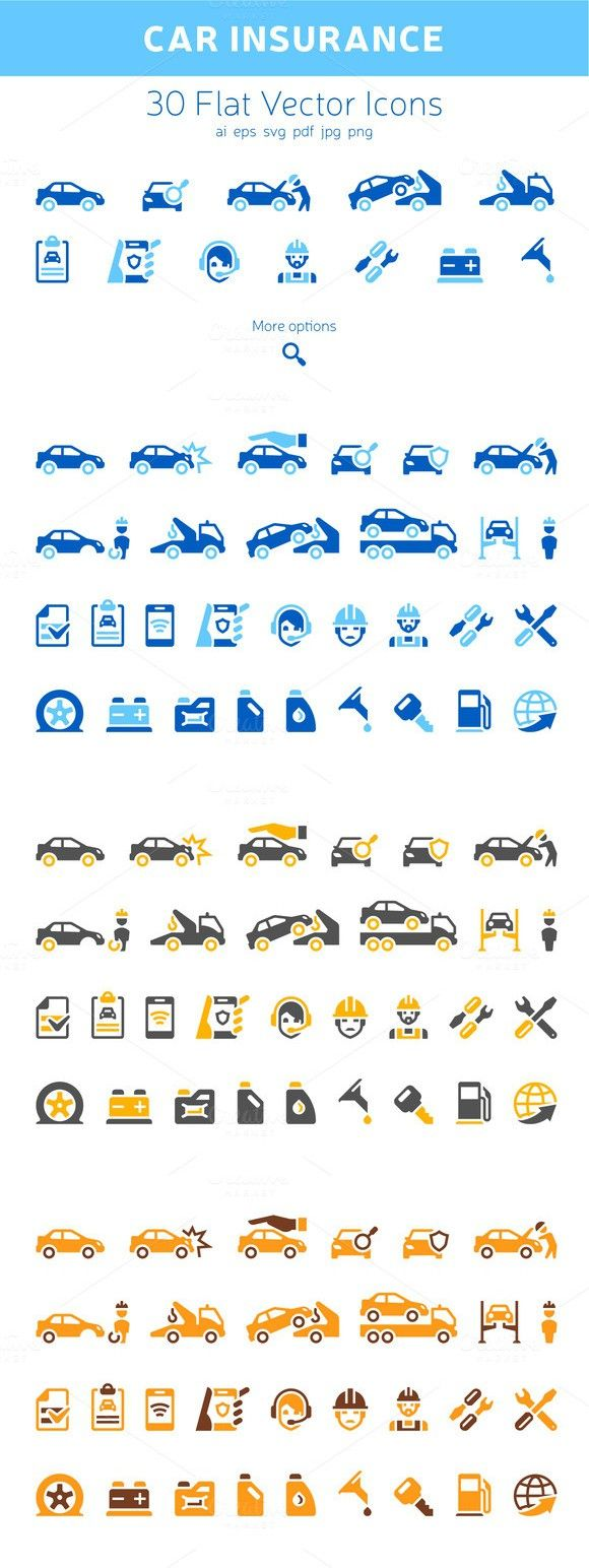 Car Insurance Icons. Business Infographic. $7.00