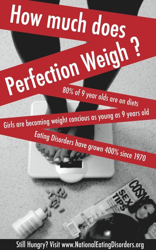Barbara Kruger Inspired: Eating Disorder Awareness by Lindsey Zellner, via Behance