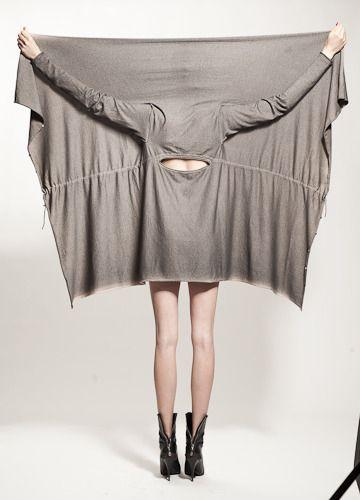 dress to cardigan, like the small back cutout