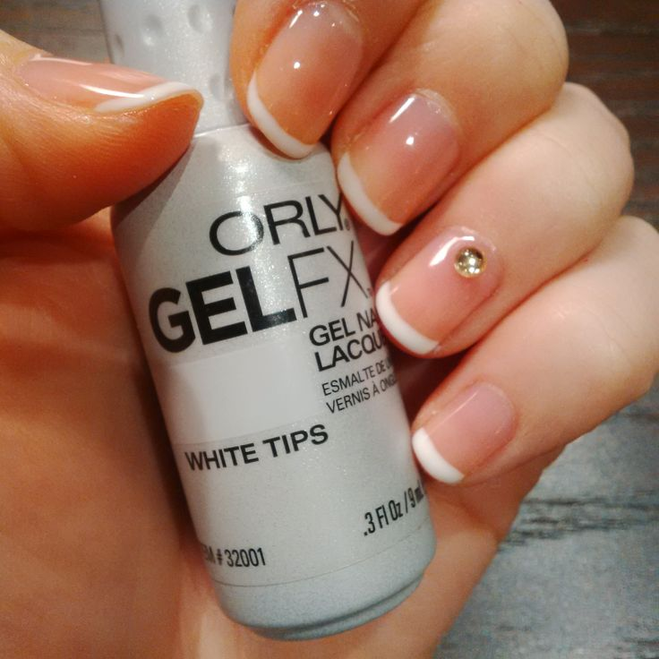 Classic White French ; Orly Gel FX #boutiquenails