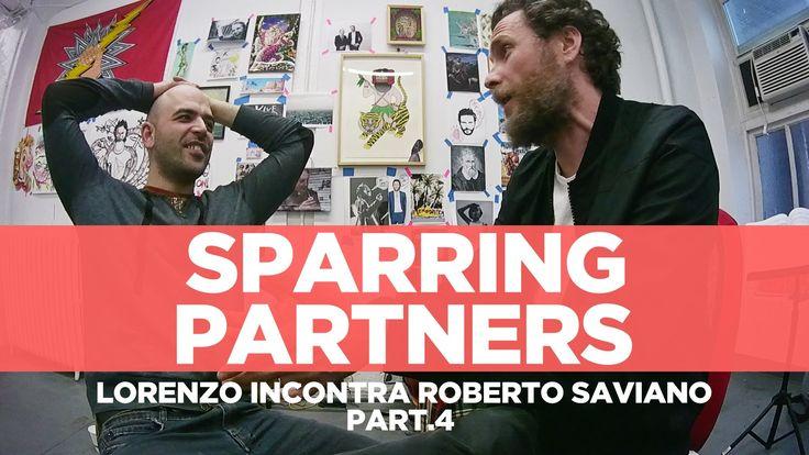 """#RobertoSaviano e #LorenzoJovanotti - #SparringPartners 4° Parte """" 'Sparring partners' è il nome che abbiamo dato alla nostra chiacchierata, nata per caso e ripresa da una telecamerina. Come un allenamento tra pugili""""."""