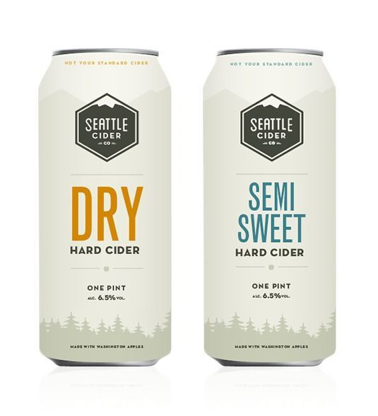 Seattle Cider packaging