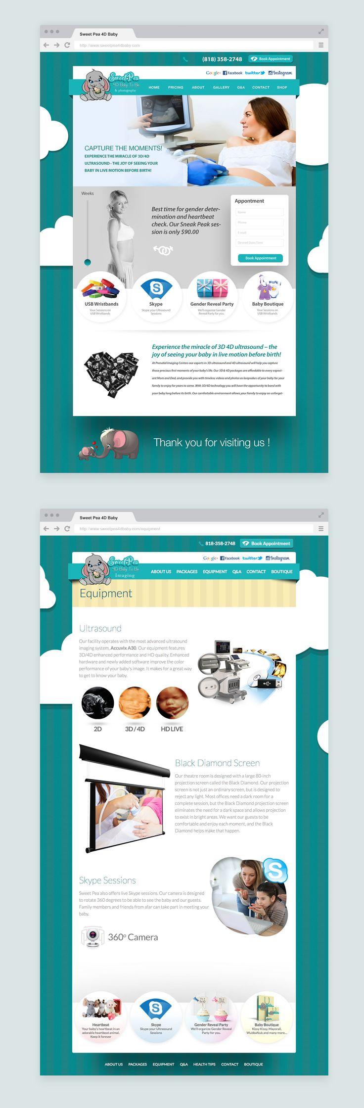 Website Design for Sweet Pea4D Baby by Gavalian Studio