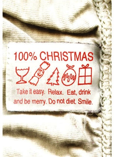 100% Christmas - Greetings Card