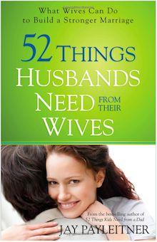남편이 아내에게 원하는 52가지   208 페이지, 2013년8월1일 (개정판) 출간, 8.4 x 5.5 x 0.5 inches  남자들은 자기들만의 의사소통 방식이 있으며 아내들은 이점을 잘 이해하지 못하고 있는 경우가 많다. 이책에서 5자녀를 둔 아버지이자 남편이며 미국 기독교 라디오 프로그램의 잘나가는 제작가이며 베스트셀러 작가는 <남편이 아내에게 원하는 52가지> 를 소개한다. 52개의 짧은 에세이로 구성되어 있다. 아내와 남편사이의 심리적 간극을 줄여주고 행복하고 의미있는 부부생활을 위한 가이드북이다.