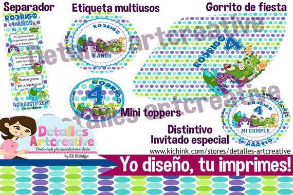 Kit Fiesta Imprimible Monster University por Detallesartcreative