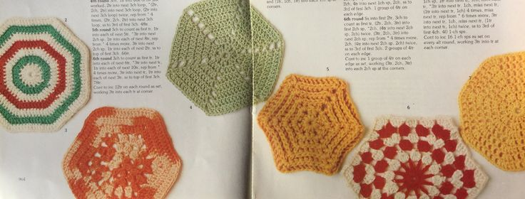 Hexagon patterns.  Crochet stitch library.  Busy Needles part 35