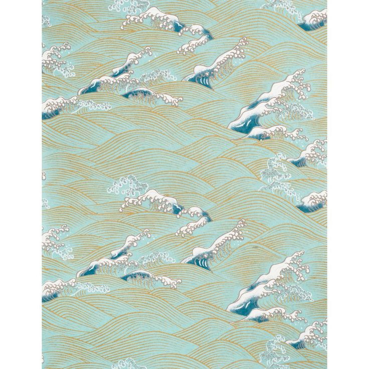 Yuzen Pool Lake Waves Fine Paper - an ode to water and waves, this Japanese decorative paper has superb craftsmanship, design sensibilities, and is specially made just for us using Paper Source colors.