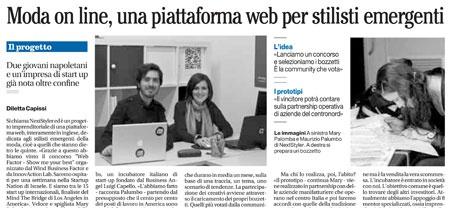 Il Mattino talks about NextStyler http://blog.maisonacademia.com/il-mattino-talks-about-nextstyler/
