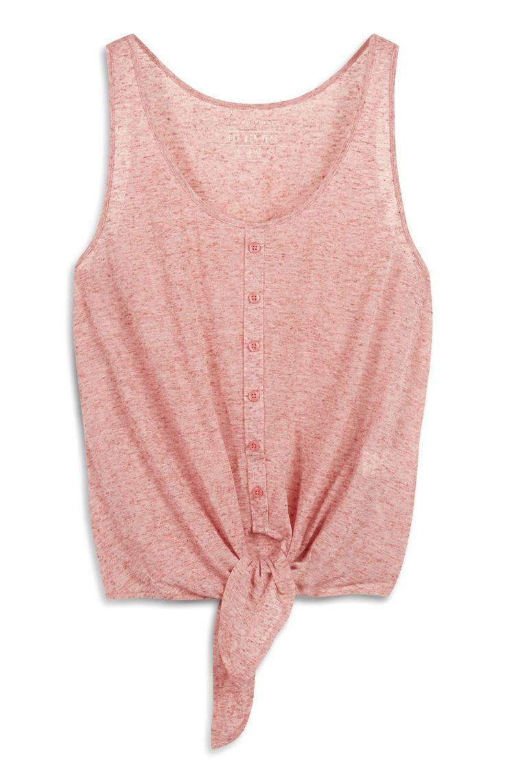 Primark - Roze hemdje met knoopstrik