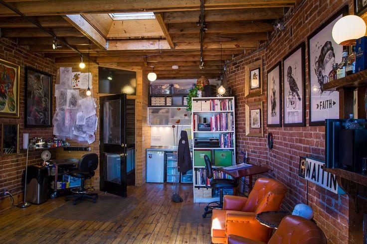 30 best tattoo shop decor images on pinterest offices panel room divider and tattoo shop decor. Black Bedroom Furniture Sets. Home Design Ideas
