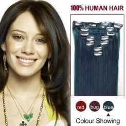 16 best clip in hair extensions canada images on pinterest 16 blue 7pcs clip in human hair extensions pmusecretfo Images