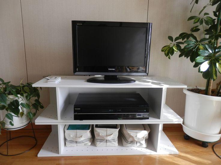 ニトリのカラーボックスで作ったテレビ台でドヤ顔 : カラーボックス ... 041