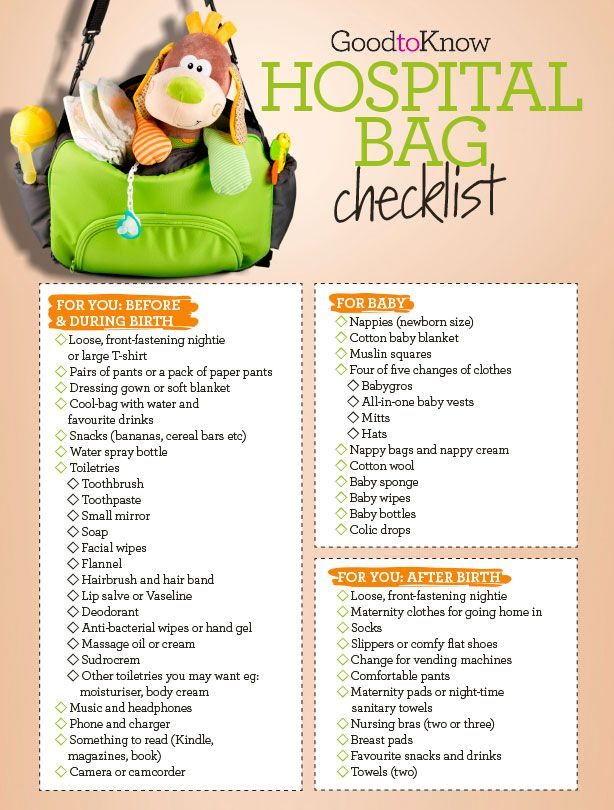 Your hospital bag checklist: Everything you'll need for before and after birth - goodtoknow