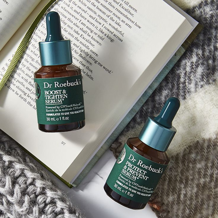 A few drops of Dr. Roebuck's and your skin will take winter head on.