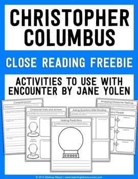 encounter by jane yolen writing activities