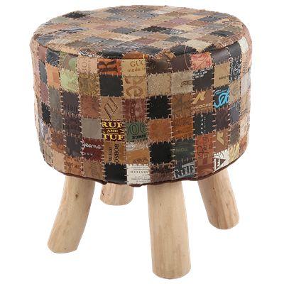 Krukje Marlboro Ø40 x 40 cm bruin #Casabella #Wonen #Kruk #Furniture