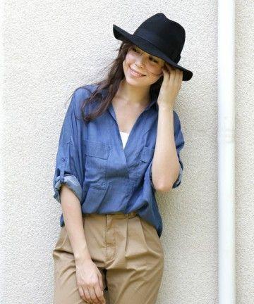 オーバーサイズのシャツはユルっと感が◎スキッパーシャツのコーデ♪スタイル・ファッションの参考に☆