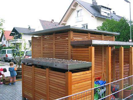 Die 25+ Besten Ideen Zu Mülltonnenhaus Auf Pinterest ... Muelltonnenbox Selber Bauen Ideen Gestaltung