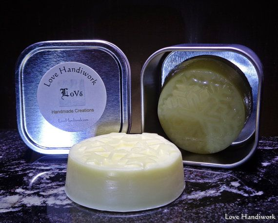 Almond Scented Beeswax Lotion Bar by LoveHandyWork on Etsy