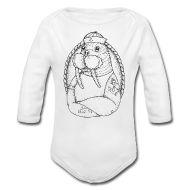 Bodys Bébés ~ Body manches longues Bébé ~ body bébé Morse blanc