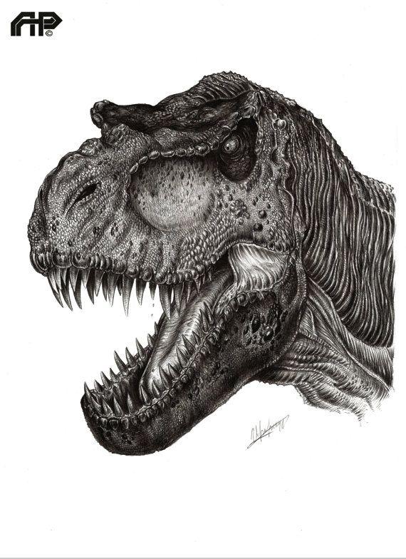 Bull Tyrannosaurus-Rex by APPaleoart on Etsy