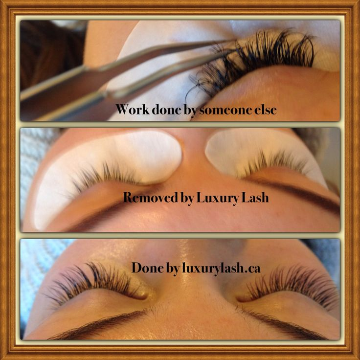 From bad to perfect eyelashes extensions.