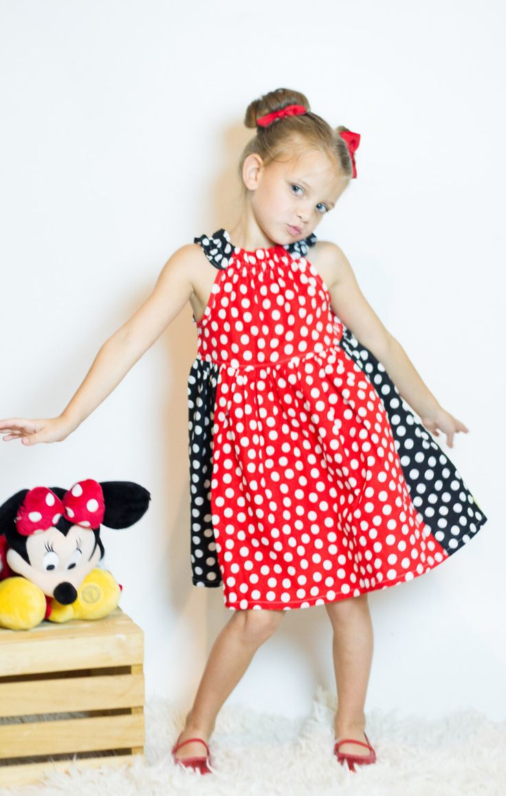 Miss Mouse Red Polka Dot Dress - Red and Black Polka Dot Dress by GoldMagnolia on Etsy https://www.etsy.com/listing/479400509/miss-mouse-red-polka-dot-dress-red-and