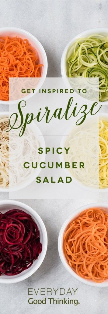 Get Inspired to Spiralize: Spicy Cucumber Salad