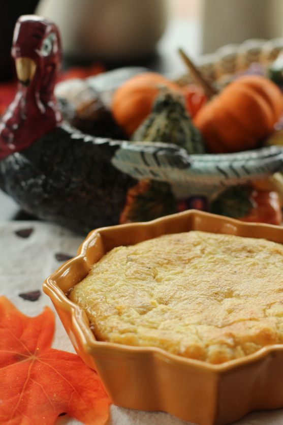 Pennsylvania Dutch Baked Corn Pudding - A traditional recipe, a must for the Thanksgiving dinner in the Amish or Mennonite home.