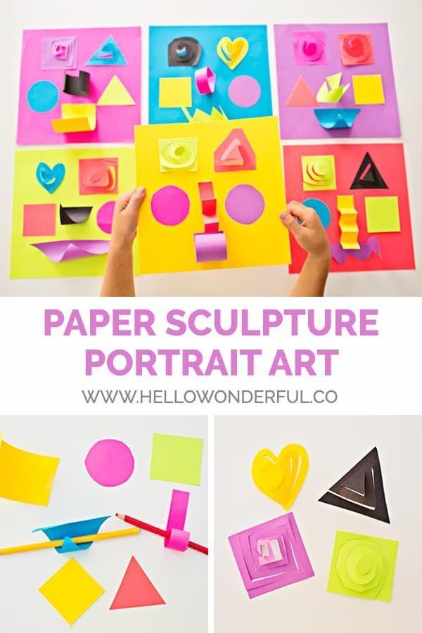 Paper Sculpture Portrait Art Kids Arts Crafts Crafts For Kids